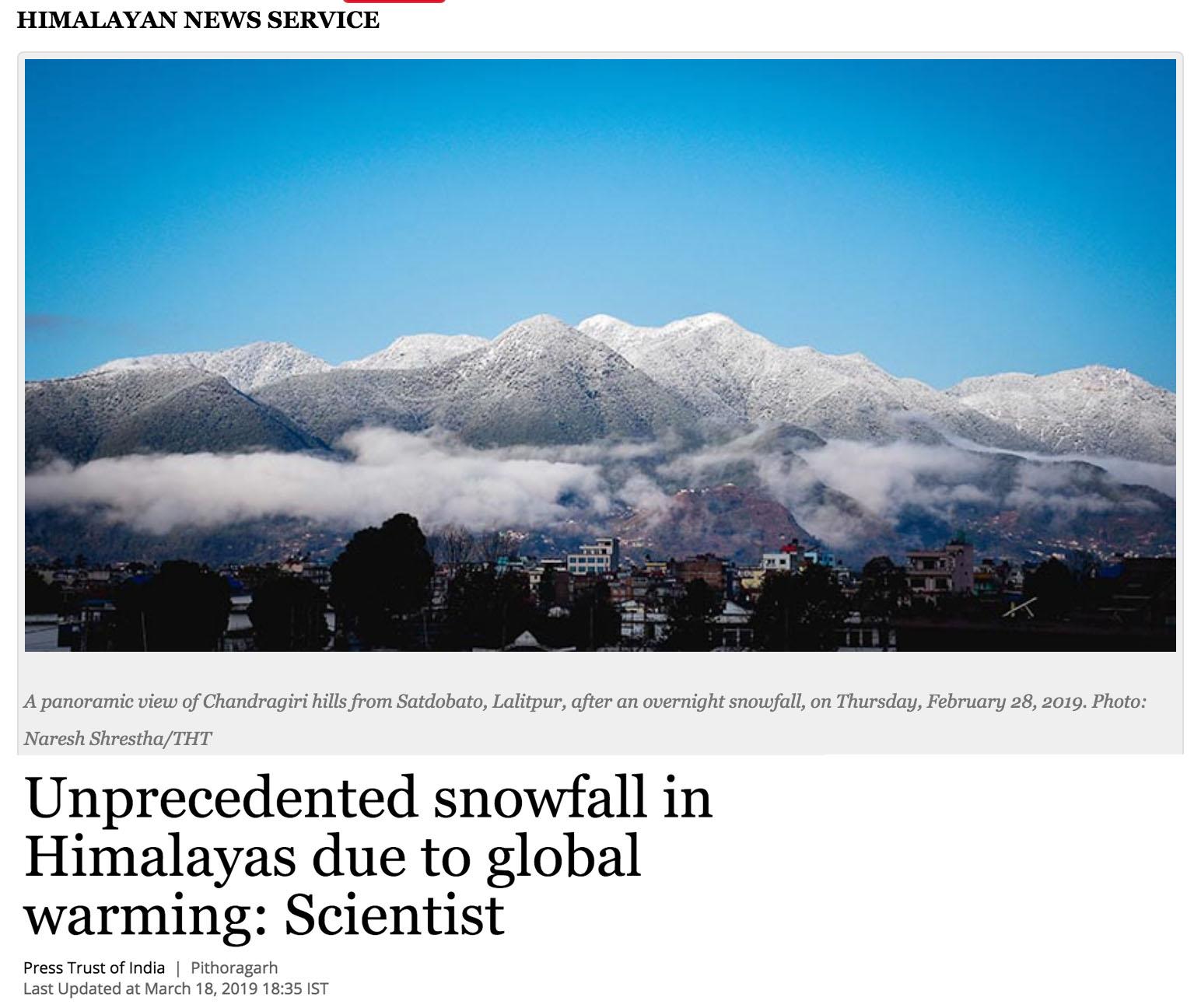 climatechangedispatch.com - Record Snowfall Across Himalayas Blamed On … Global Warming